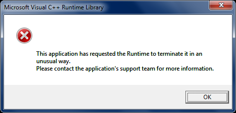 this application has requested the runtime to terminate it in an unusual way.png